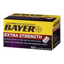 Bayer Aspirin 500mg 100 tablets / Bayer Aspirin / Bayer Extra Strength Aspirin 100 Coated Caplets
