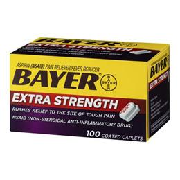 바이엘 아스피린 500mg 100정 / Bayer Aspirin / Bayer Extra Strength Aspirin 100 Coated Caplets