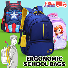 [School bag] Ergonomic School Bag Backpack/ Waterproof backpack/bookbbag/student bag/kids bag