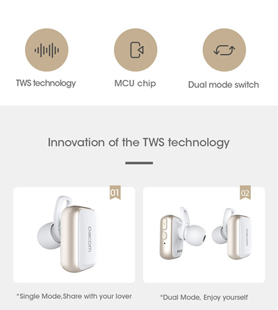 d4184bffc83 store Dacom GF8 TWS true wireless earbuds earpiece noise canceling headset  stereo mini bluetooth 4.2