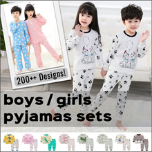 【Group Buy】1yo - 12yo❤Kids Pyjamas❤Sleeping Wear❤Baby❤Boys❤Girls❤Cute Children Pajamas❤Fast Shipping