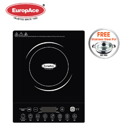 EuropAce Electric 2100W Induction Cooker Free S/S HotPot - 1 year warranty