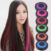 6-colors Non-toxic Temporary Hair Styling Soft Dye Powder Salon Tools Kit