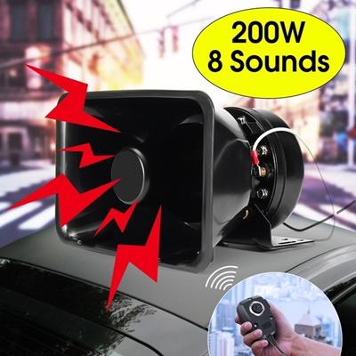 Car Warning Alarm Police Fire Siren Horn PA Speaker MIC System 200W 8  Sounds Loud for Car Truck Van