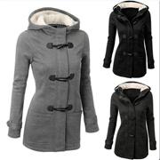 Winter Claw Clasp Womens Wool Blended Hoodies Coat(S-5XL,Black,Grey,Coffee,Dark Grey,Blue,Green,Wine