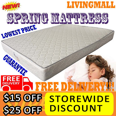 SPRING MATTRESS_EURO PLUSH TOP_LOWEST PRICE!!! FREE DELIVERY AND LIMITED OFFER!!! Deals for only S$299 instead of S$0