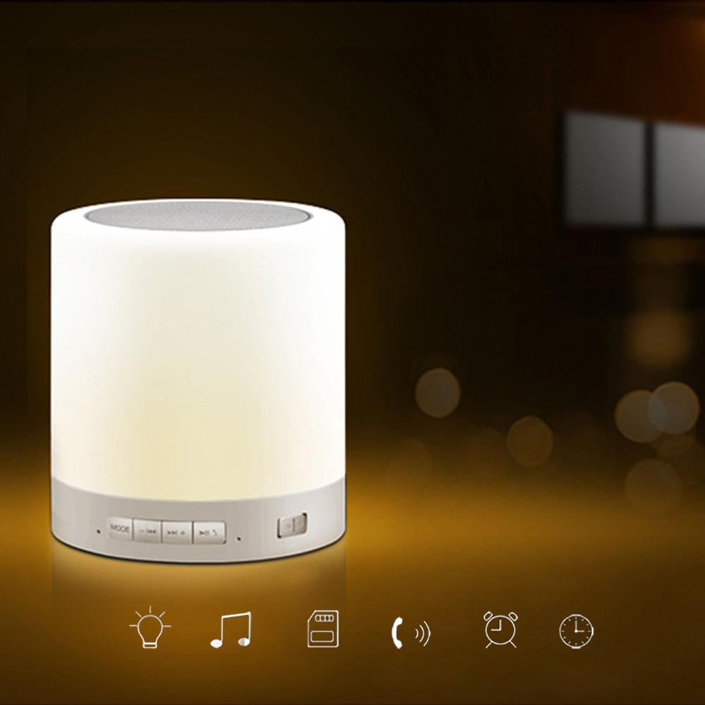 Qoo10 - [MEGA SALE]Touch Lamp Portable Speaker With Bluetooth Warm ...