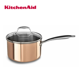 Tri-Ply Copper 3.0-Quart Saucepan with Lid Cookware - Satin Copper [KCP30PLCP]