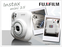 Fuji Instax Mini 25 White Kamera Pocket
