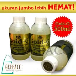 500mL^^JELLY GAMAT GOLD-G ukuran JUMBO !!! SEA CUCUMBER JELLY / Hoi Som / Tripang Emas 100% HALAL dan BPOM dijamin !