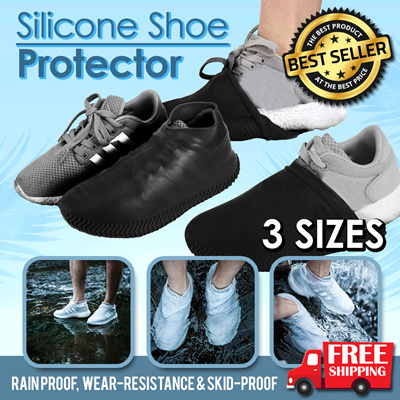 ad7ea2cc07eb Waterproof Shoes Covers Slip-resistant Rain Boot Antiskid Reusable Silicone  Insole Shoe Boots Cover