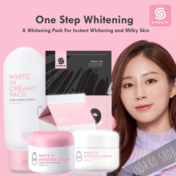 [G9 SKIN] White in Whipping Cream/White in Creamy Pack/White in Moisture Cream/3D Volume Gum Mask Deals for only Rp155.000 instead of Rp155.000