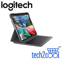 Logitech Slim Folio Pro Keyboard Case for iPad Pro 3rd Gen (2019) 12.9-In Only (1-Year SGP Warranty)