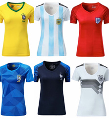 2018 Russia World Cup Lady Women jersey of brazil england germany argentina france portugal spain