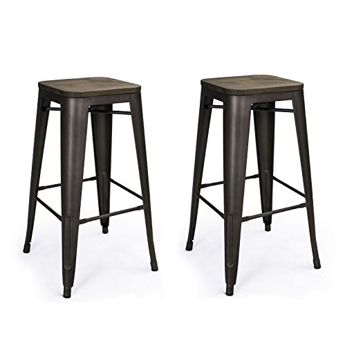 Homebeez Metal Barstools Backless With