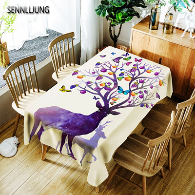 Sennlljung Oilproof Tablecloth Waterproof Oilcloth Table Cloth Dining Kitchen Table Cover Protector