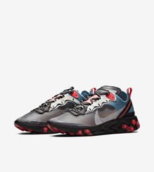 Nike React Element 87 Blue Solar Red (Code: AQ1090 006)