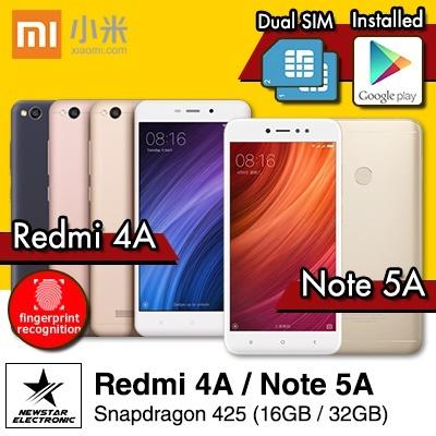 (2017 NEW) Xiaomi Redmi 4A/Xiaomi Redmi 5A/ Redmi Note 5A Dual SIM | Ready Stocks | SG Seller Deals for only S$299 instead of S$0