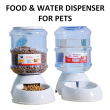 [Qprime]Food dispenser Water dispenser automatic Pets 3.5L / 11L Food Feeder Water Feeder Dog Cat