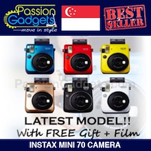 [Free Gifts + Film] Latest Instax Mini 70 Polaroid Instant Camera mini8 mini25 mini50s mini7s mini7