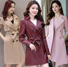 2018 Women Trench Coats Overcoat Jacket ★ Leather clothing ★ Winter Woolen coat ★ Outerwear