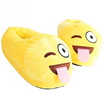 Neutral soft cute cartoon naughty face non-slip indoor slippers winter warm shoes plush slippers