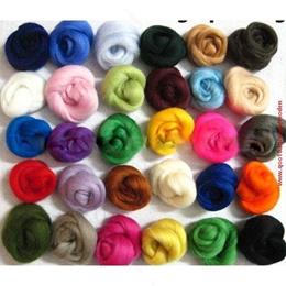 Set of 36 colors Merino Wool Fibre Wool Roving For Needle Felting materials