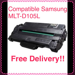 (SG Sales!) Compatible Samsung Printer Toner Cartridge MLT-D105L! For Used in ML-1910 / ML-1915 / ML-2525 / ML-2580 / SCX-4600 / SCX-4623 / SF-650