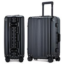 Aluminum Magnesium Alloy Framed Scratch Resistant Dual 4 Wheel Spinner Hard Case Trolley Luggage