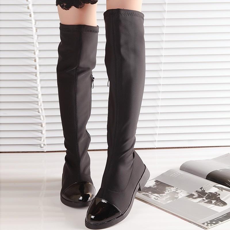 970cdea8844 fit to viewer. prev next. Girls boots autumn 2015 Korean children boots  stretch fabric boots knee ...