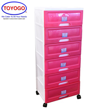 Toyogo Plastic Storage Cabinet / Drawer With Wheels (6 Tier) (609-6)