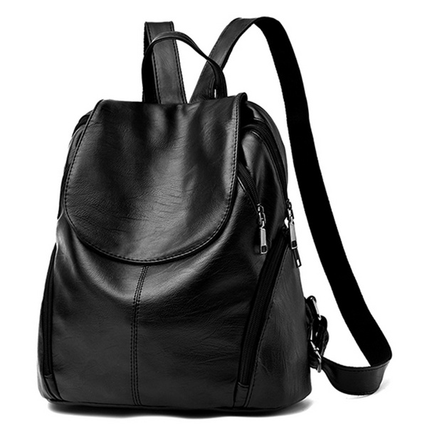 TRENDY LADIES SOFT PU LEATHER KOREAN BACKPACK . Deals for only Rp155.000 instead of Rp155.000