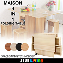 MAISON Foldable Multi-purpose Tables! ★Dining Table || Computer Table ★Storage Organizer