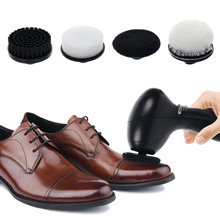 Electric Portable Shoes Polisher Cleaner with 4 Brush Heads