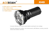 Acebeam X45 II High Power LED Flashlight