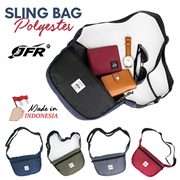 Get 2 Pcs JFR Sling Bag Polyester JT08_5 Colors_Made In Indonesia