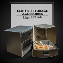 3 Drawer Leather Case -  Laci Kulit Sintesis 3 Susun utk perhiasan n aksesoris | | Desain Elegan dan Material Terjamin Kualitasnya