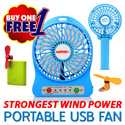 GoSPEEDY+ uFan Turbo LiLeng HandFan Portable Mini USB Fan 4/6 Inch Tower Fan Design Easy Use 360 Degree Rotate Stroller Table Fan Ultra Quiet Design 3 Speed Control ABS Case Strongest Wind Power