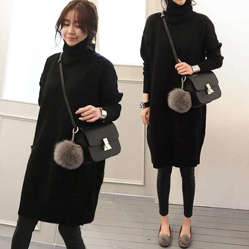 ★韓国ファッション★ロング丈ニットワンピース