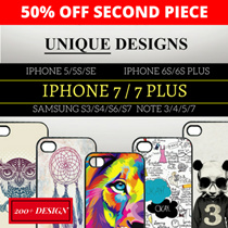 【50% OFF 2ND PC】★DESIGN PHONE CASE★ IPHONE 7/7+/5/5S/SE/6/6+ SAMSUNG S4/S6/S7/S7E/S8/S8+ NOTE 5