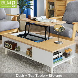 [ONLY One in Qoo10] Lift Top Coffee Table★800cm / 1200cm★Lift Table★Lift Top Table / Laptop Table★Fu
