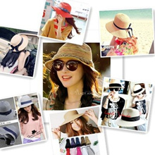 ●MAOMAO● Local  Foldable Shipping Holiday Travel Sea beach Essential Sun block UV protect hat straw