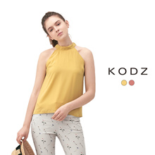 KODZ - Ribbon Tie Halterneck Top-180124