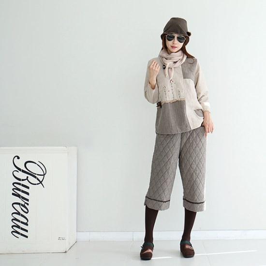 ドレス飛ぶパフ・ストライプロングワンピース シフォン/レースのワンピース/ 韓国ファッション
