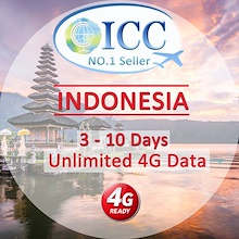 ◆ICC◆【Indonesia SIM Card·2-10 Days】❤ XL❤Unlimited 4G Data❤No Slow Speed❤Plug and Use