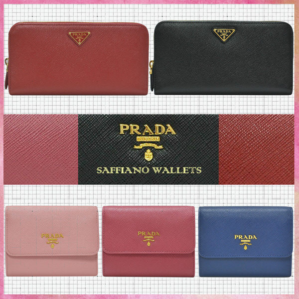 5cf3455392e2 [Official thatbagiwant.com] PRADA Saffiano Leather Ladies and Mens Wallets  100% Authentic