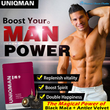 💪UNIQMAN 6X Maca Enhance+Antler Velvet (Certified Organic MACA)💪Increase Energy/Sex Drives/libido