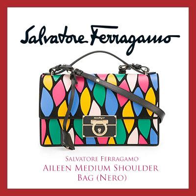 6f9c0c2284ec Qoo10 - Salvatore Ferragamo Aileen Medium Shoulder Bag (Nero)   Bag   Wallet