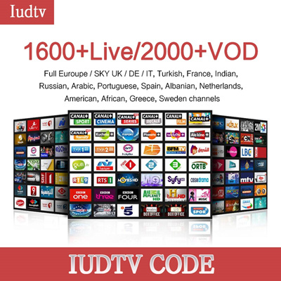 discount 1 year Iudtv subscription code M3U APK Europe Swedish Portugal  IPTV Subscription OVER 2000