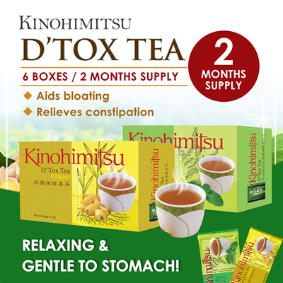 KinohimitsuKinohimitsu Detox Tea 14s x 6 box (Ginger/Peppermint) SLIMMER HEALTHIER YOU *Clear Toxins/Waste*